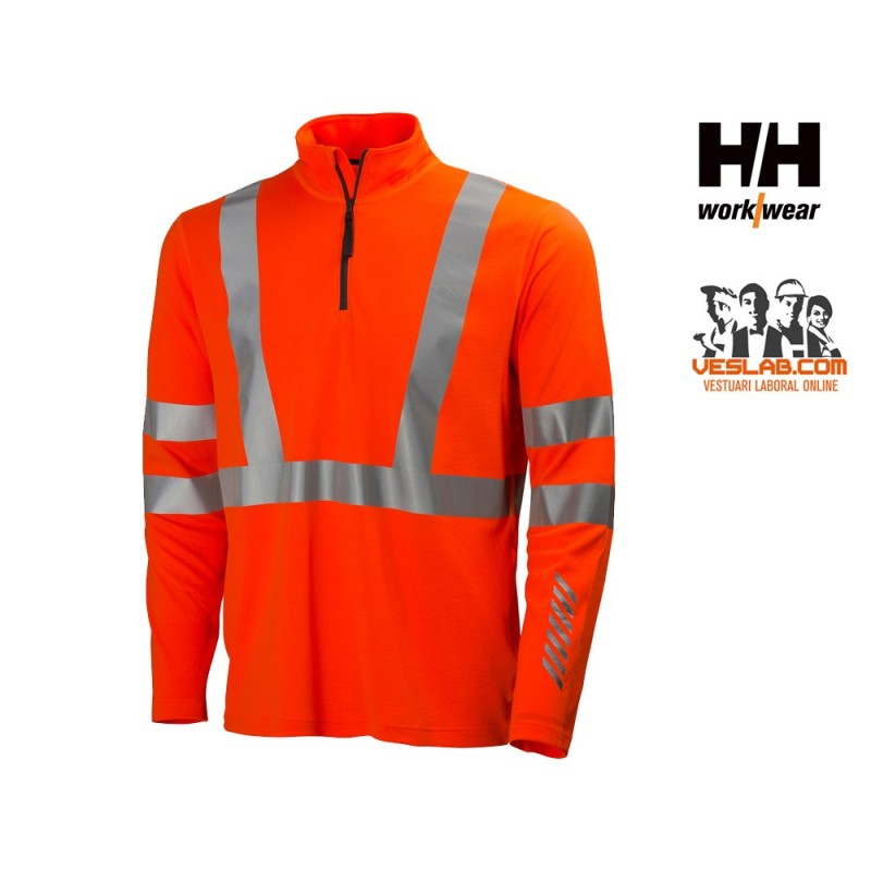 HIGH VISIBILITY HELLY HANSEN ESBJERG POLO DEMI-ZIP
