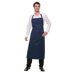 LONG APRON WITH BIB AND POCKET